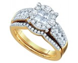 Ladies Two Piece Set 14K Yellow Gold 1.00 ct. GD-67217