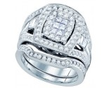 Ladies Two Piece Set 14K White Gold 1.50 cts. GD-67221