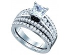 Ladies Two Piece Set 14K White Gold 2.00 ct. GD-67225