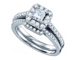 Ladies Two Piece Set 14K White Gold 1.00 ct. GD-67270