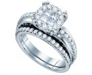 Ladies Two Piece Set 14K White Gold 1.01 cts. GD-67272
