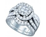 Ladies Two Piece Set 14K White Gold 1.76 cts. GD-67322