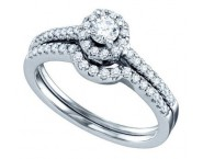 Ladies Two Piece Set 14K White Gold 1.00 ct. GD-67324