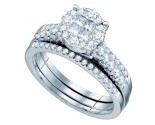 Ladies Two Piece Set 14K White Gold 1.00 ct. GD-67338