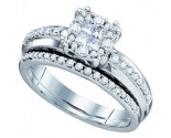 Ladies Two Piece Set 14K White Gold 1.01 cts. GD-67345