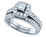 Ladies Two Piece Set 14K White Gold 1.50 cts. GD-68708