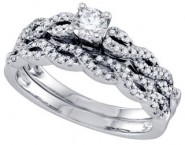 Ladies Diamond Bridal Ring Set 14K White Gold 0.50 cts. GD-68712