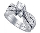 Ladies Two Piece Set 14K White Gold 0.88 cts. GD-68716