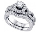 Ladies Two Piece Set 14K White Gold 1.00 ct. GD-68724