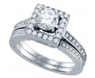 Ladies Two Piece Set 14K White Gold 1.50 cts. GD-69004