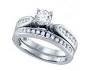 Ladies Two Piece Set 14K White Gold 1.00 ct. GD-69005