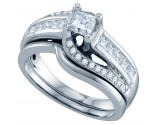 Ladies Two Piece Set 14K White Gold 1.00 ct. GD-69006