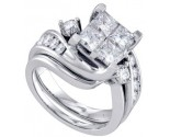 Ladies Two Piece Set 14K White Gold 1.00 ct. GD-69805