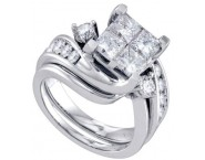Ladies Two Piece Set 14K White Gold 1.00 ct. GD-69805 [GD-69805]
