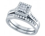 Ladies Two Piece Set 14K White Gold 0.50 cts. GD-69112