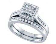 Ladies Two Piece Set 14K White Gold 0.50 cts. GD-69112 [GD-69112]