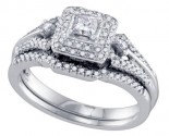 Ladies Two Piece Set 14K White Gold 0.51 cts. GD-69152