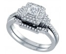 Ladies Two Piece Set 14K White Gold 0.50 cts. GD-69154
