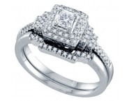 Ladies Two Piece Set 14K White Gold 0.50 cts. GD-69154 [GD-69154]