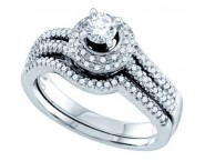 Ladies Two Piece Set 14K White Gold 0.50 cts. GD-69156