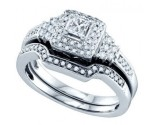 Ladies Two Piece Set 14K White Gold 0.51 cts. GD-69158