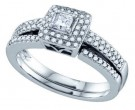 Ladies Two Piece Set 14K White Gold 0.50 cts. GD-69159