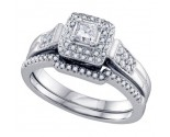 Ladies Two Piece Set 14K White Gold 0.50 cts. GD-69160