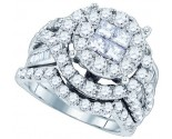 Ladies Two Piece Set 14K White Gold 3.01 ct. GD-69164