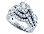 Ladies Two Piece Set 14K White Gold 1.51 cts. GD-69746