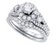Ladies Two Piece Set 14K White Gold 1.50 cts. GD-69751 [GD-69751]