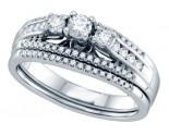 Ladies Two Piece Set 14K White Gold 0.50 cts. GD-69809