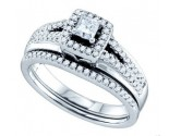 Ladies Two Piece Set 14K White Gold 0.50 cts. GD-69812