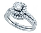 Ladies Two Piece Set 14K White Gold 1.36 cts. GD-70208