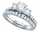 Ladies Two Piece Set 14K White Gold 0.50 cts. GD-69177