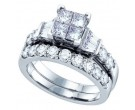 Ladies Two Piece Set 14K White Gold 1.00 ct. GD-70280
