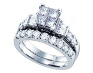 Ladies Two Piece Set 14K White Gold 1.00 ct. GD-70280 [GD-70280]