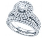 Ladies Two Piece Set 14K White Gold 2.20 cts. GD-70297