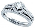 Ladies Two Piece Set 14K White Gold 1.00 ct. GD-70314
