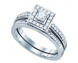 Ladies Two Piece Set 14K White Gold 0.50 cts. GD-72472