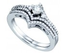 Ladies Two Piece Set 14K White Gold 0.50 cts. GD-72476