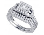 Ladies Two Piece Set 14K White Gold 0.98 cts. GD-72531