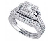 Ladies Two Piece Set 14K White Gold 0.98 cts. GD-72531 [GD-72531]