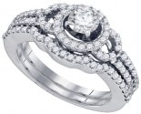 Ladies Two Piece Set 14K White Gold 1.04 cts. GD-72552