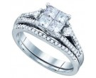 Ladies Two Piece Set 14K White Gold 1.00 ct. GD-72620