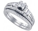 Ladies Two Piece Set 14K White Gold 0.50 cts. GD-73052