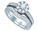 Diamond Bridal Ring Set 14K White Gold 1.00 ct. GD-73111