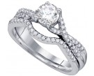 Ladies Two Piece Set 14K White Gold 0.76 cts. GD-73416