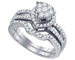Ladies Two Piece Set 10K White Gold 0.75 cts. GD-73742