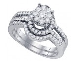 Ladies Two Piece Set 10K White Gold 0.78 cts. GD-73744