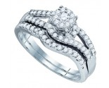 Ladies Two Piece Set 10K White Gold 0.56 cts. GD-73746